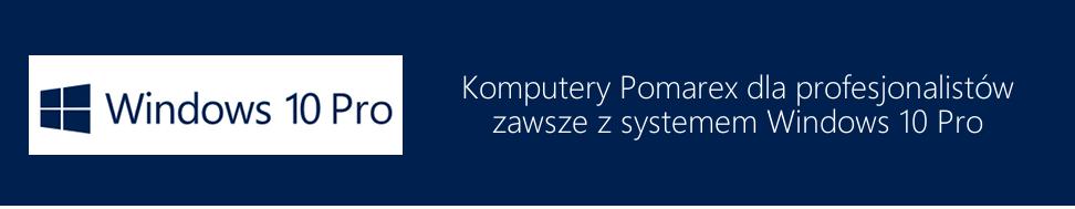 Windows 10 Pro - niebieski ciemny